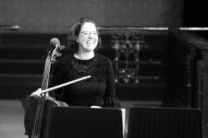 Our principal cello, Sarah McMahon